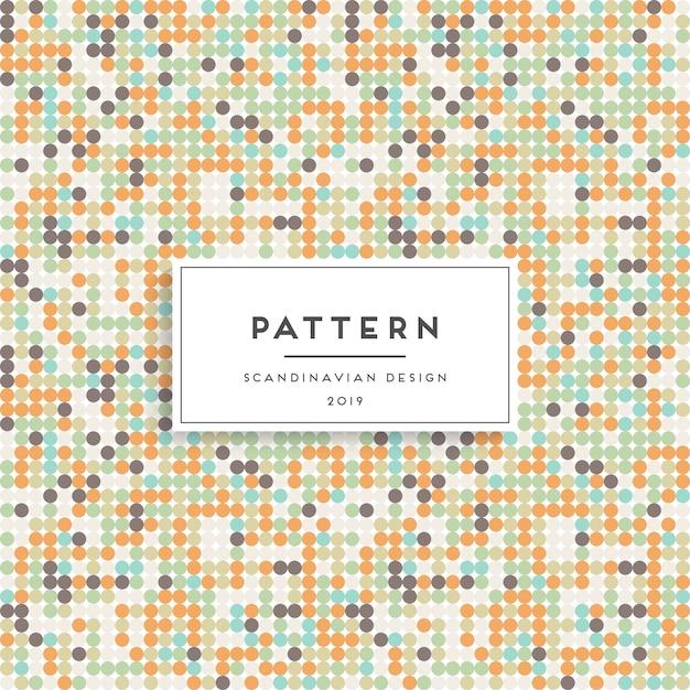 Modèle sans couture scandinave. conception d'impression en tissu Vecteur gratuit