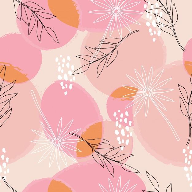 Modèle sans couture de surface florale abstraite Vecteur Premium