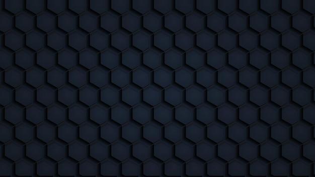 Modèle Sans Couture De Texture De Papier Polygonale Noir Vecteur Premium