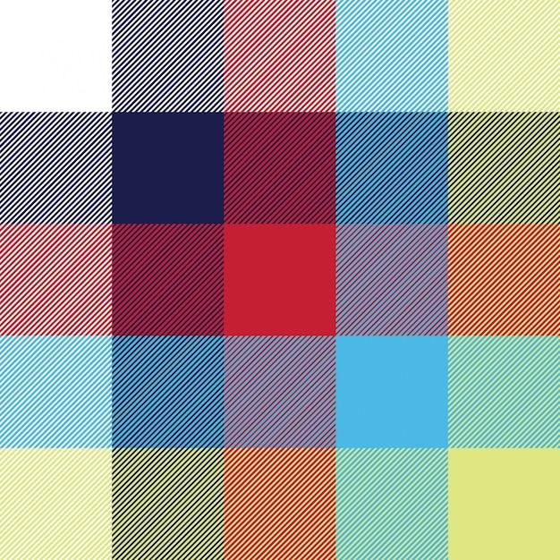 Modèle Sans Couture De Texture De Tissu Diagonal De Nappe Vecteur Premium