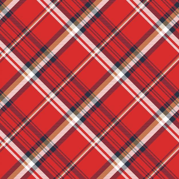 Modèle sans couture de texture de tissu écossais rouge Vecteur Premium