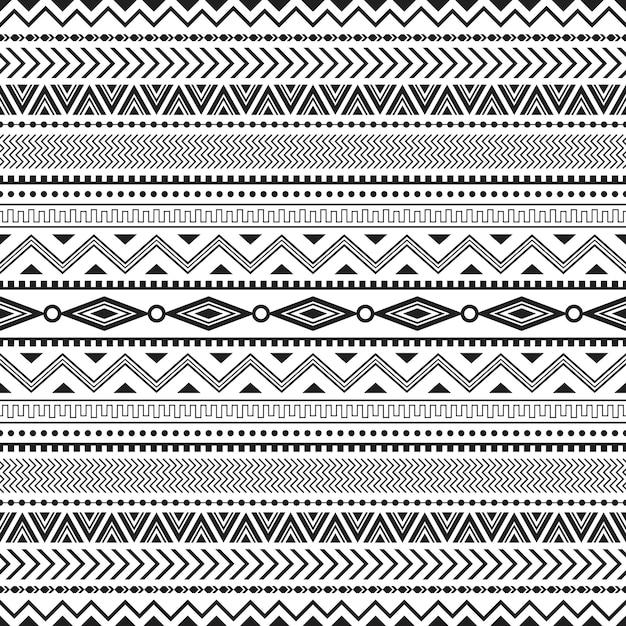 Modèle Sans Couture Tribal Sans Soudure Géométrique Vecteur Premium