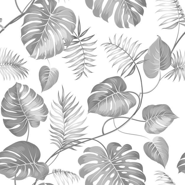 Modèle Sans Couture Tropical. Paume. Vecteur gratuit