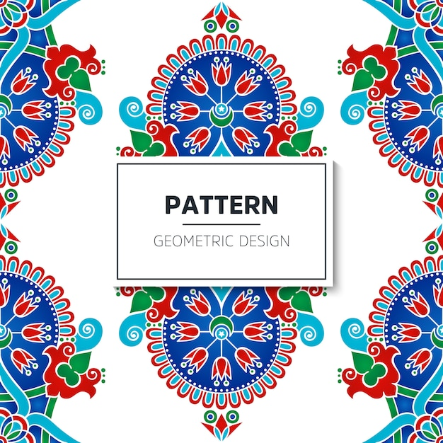 Modèle sans couture turque Vecteur gratuit