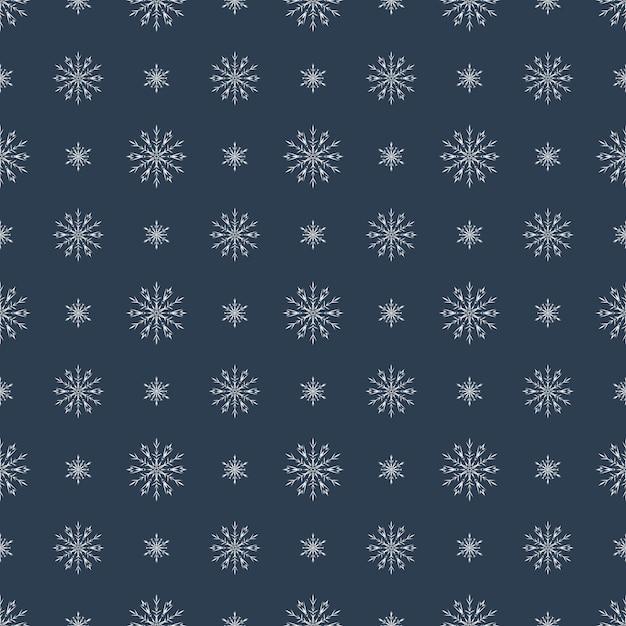Modèle sans couture de vecteur avec des flocons de neige Vecteur Premium