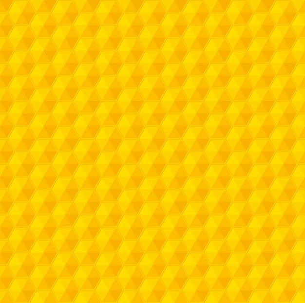 Modèle sans couture de vecteur de nid d'abeille géométrie jaune Vecteur Premium