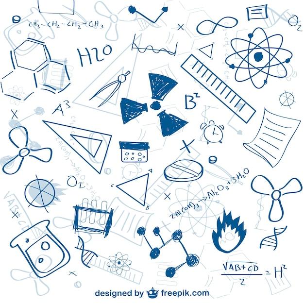 Modèle De Science-doodle Vecteur gratuit