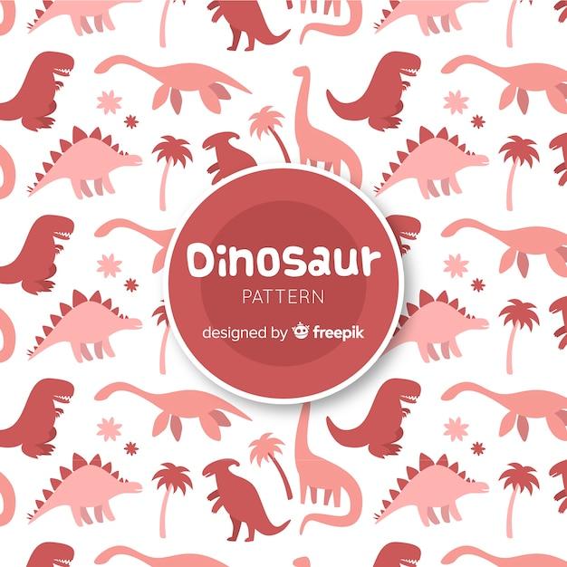 Modèle de silhouette de dinosaure dessiné à la main Vecteur gratuit