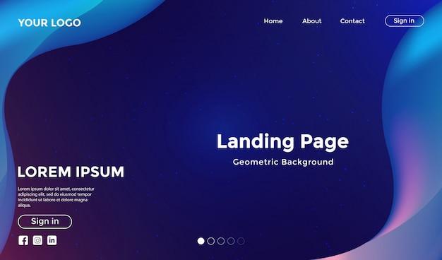 Modèle de site web avec fond géométrique de forme moderne Vecteur Premium
