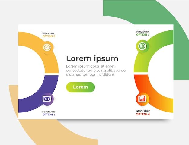 Modèle De Site Web Infographique Conçoit Des Concepts, Illustration Vectorielle Vecteur Premium