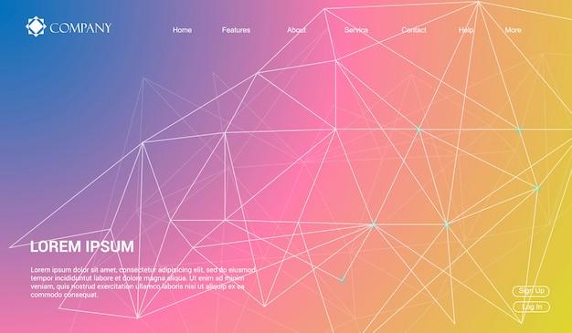 Modèle De Site Web Pour Des Sites Web Ou Des Applications. Landing Page Minimal Moderne. Vecteur Premium