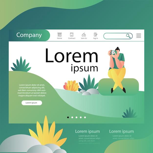 Modèle De Site Web Vecteur Premium