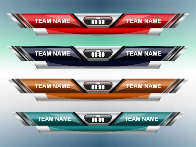 Modèle de sport de tableau de bord pour le football et le football Vecteur Premium