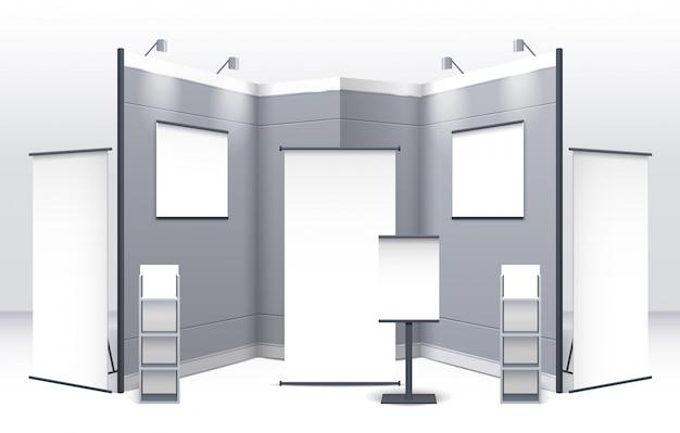 Modèle De Stand D'exposition Vecteur gratuit