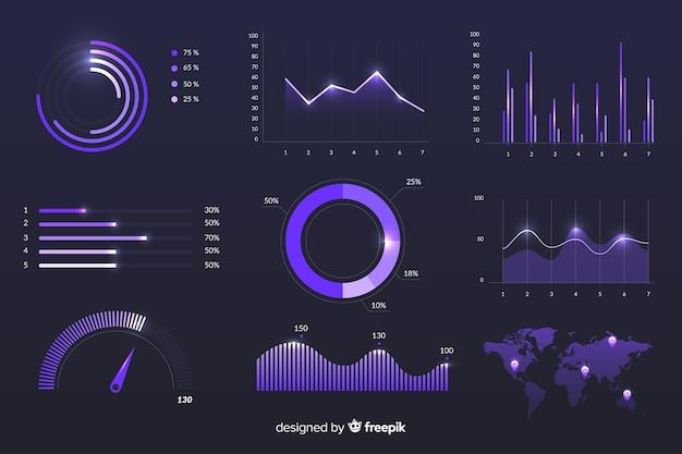Modèle de statistiques de croissance marketing Vecteur gratuit