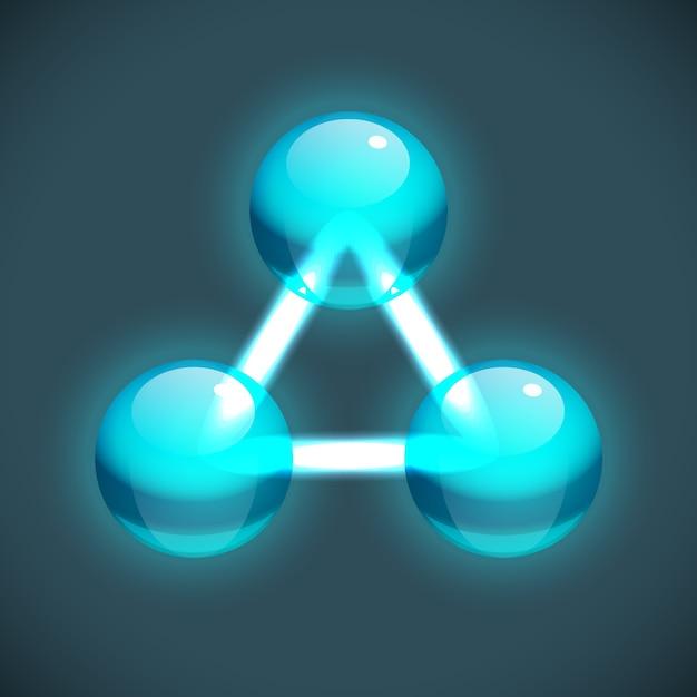 Modèle De Structure De Molécule Lumineuse Avec Des Atomes De Turquoise Connectés Ronds Vecteur gratuit