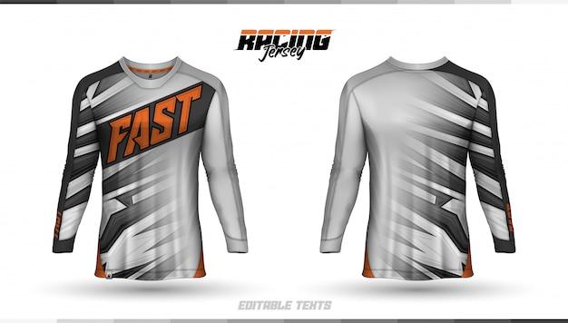 Modèle De T-shirt, Conception De Maillot De Course, Maillot De Football Vecteur Premium