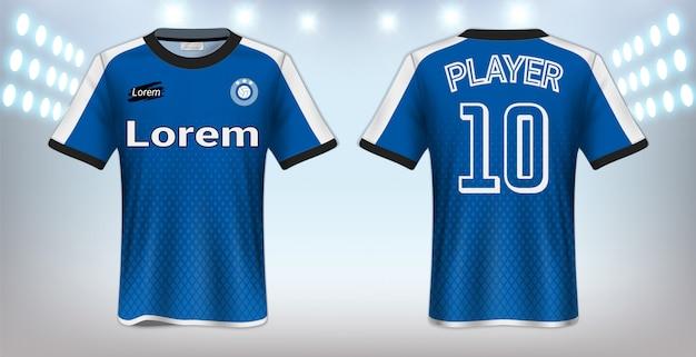 Modèle de t-shirt sport Vecteur Premium