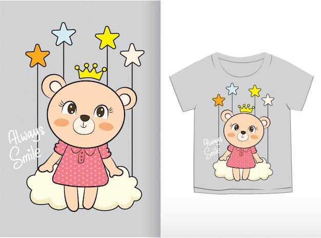 Modèle de t-shirt Vecteur Premium