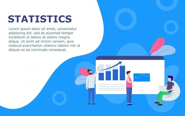 Modèle avec tableau de bord et statistiques Vecteur Premium