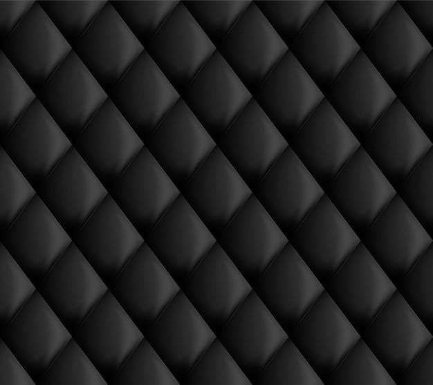 Modèle de tapisserie d'ameublement noir sans couture Vecteur Premium
