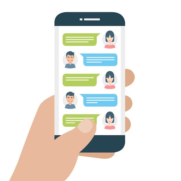 Modèle de téléphone portable Vecteur gratuit