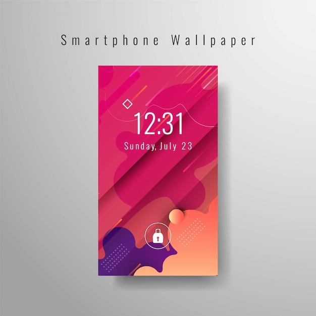 Modèle tendance décoratif smartphone papier peint Vecteur gratuit
