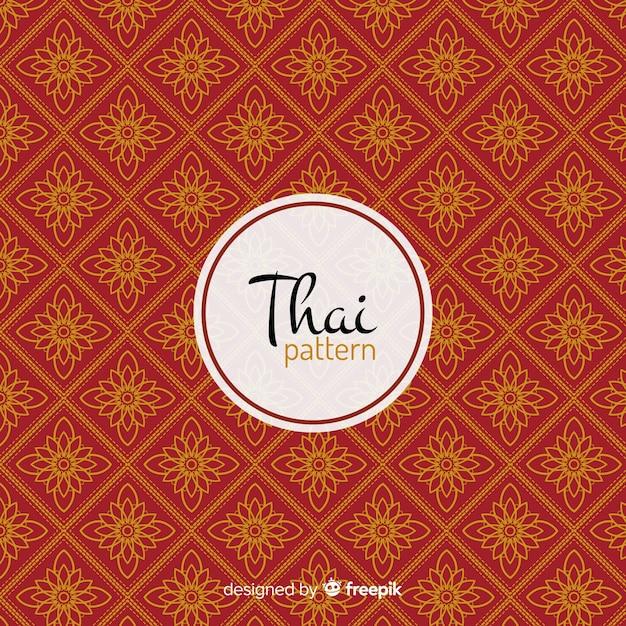 Modèle thaï luxueux avec un style doré Vecteur gratuit