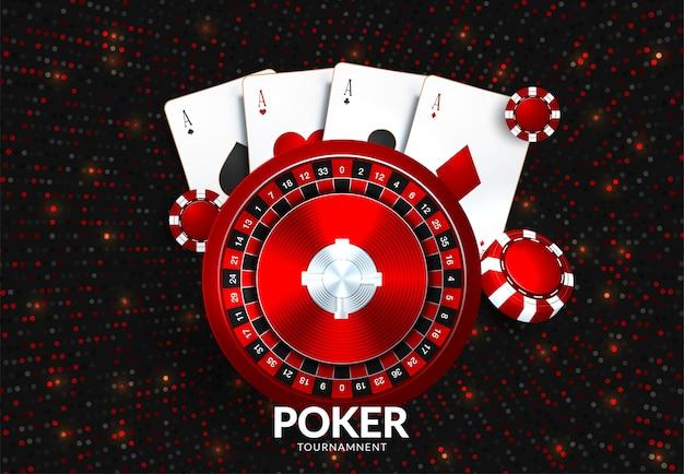 Modèle de tournoi casino gambling Vecteur Premium