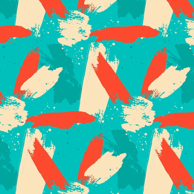Modèle De Trait De Pinceau Abstrait Vecteur gratuit