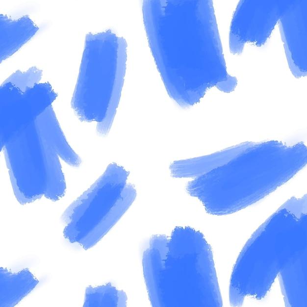 Modèle De Trait De Pinceau Bleu Abstrait Vecteur gratuit