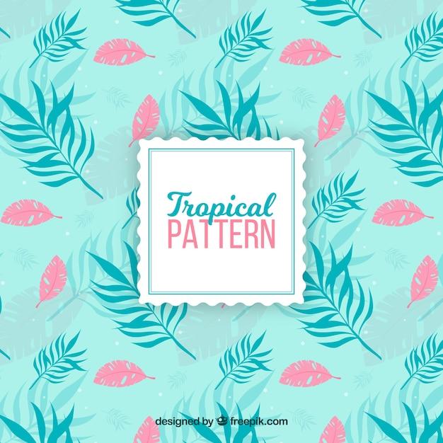 Modèle tropical élégant avec style vintage Vecteur gratuit