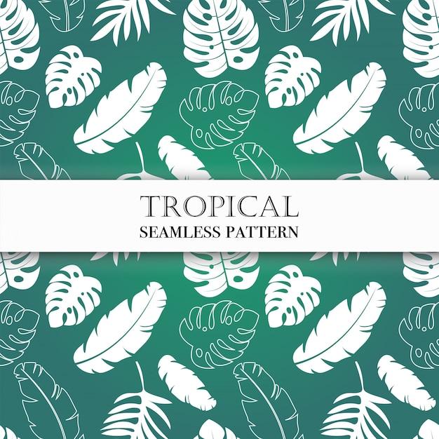 Modèle tropical sans soudure. Vecteur Premium