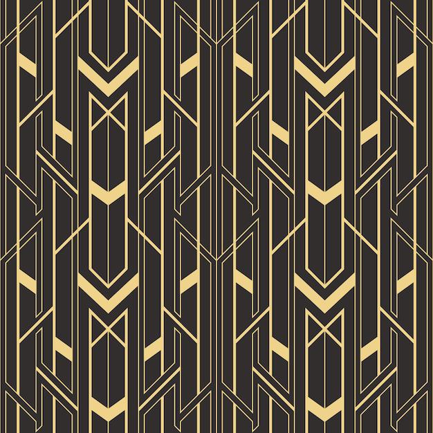 Modèle de tuiles modernes sans couture art déco abstraite Vecteur Premium
