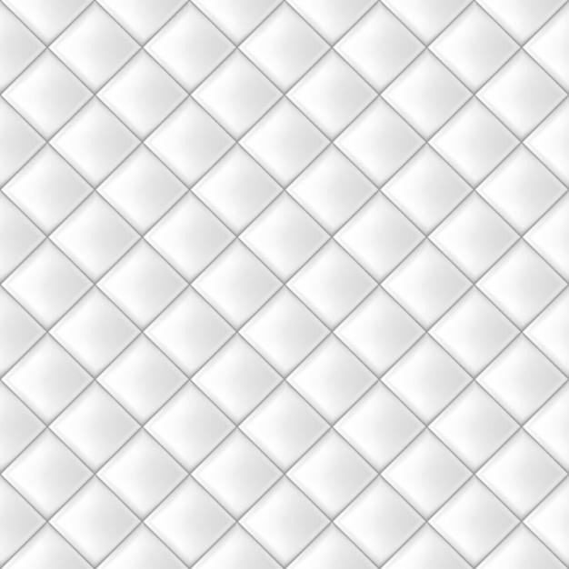 Modèle de tuiles sans couture blanches Vecteur Premium