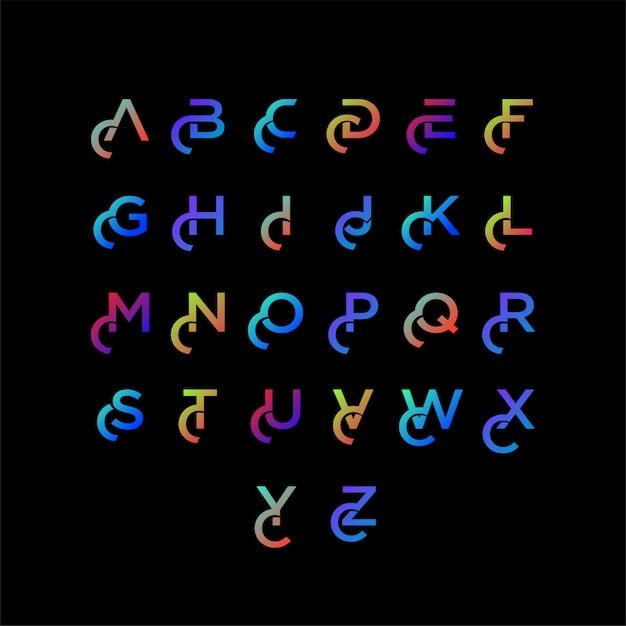 Modèle de typographie dégradé coloré Vecteur Premium