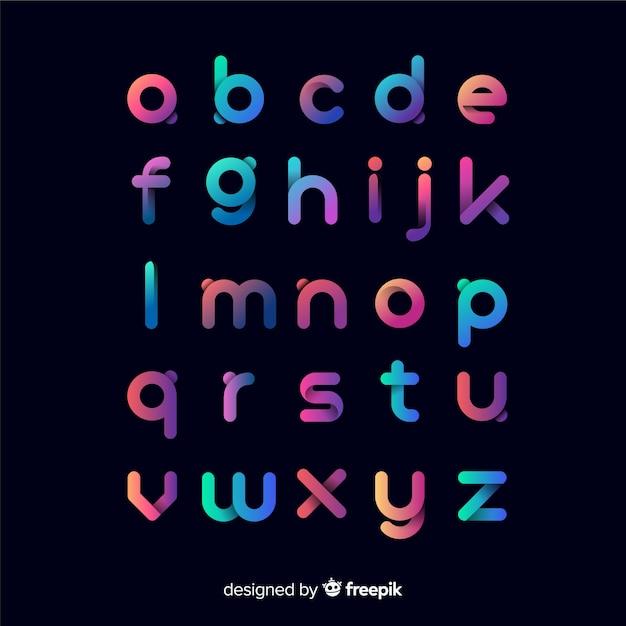 Modèle de typographie dégradé coloré Vecteur gratuit