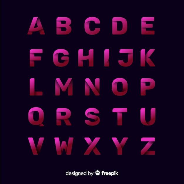 Modèle de typographie dégradé monochrome Vecteur gratuit
