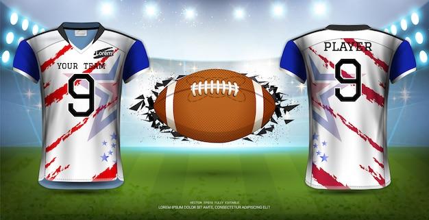 Modèle d'uniformes de maillots de football. Vecteur Premium