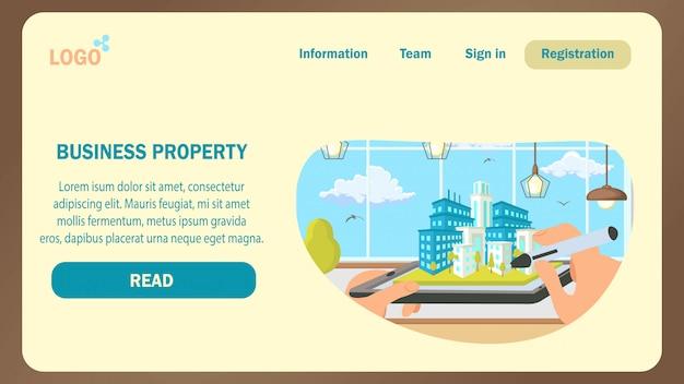 Modèle De Vecteur De Business Landing Page. Vecteur Premium