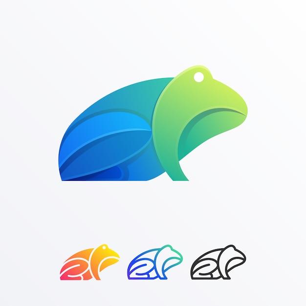 Modèle de vecteur de conception abstraite grenouille illustration couleur Vecteur Premium