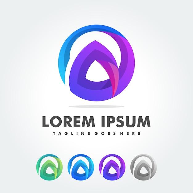 Modèle de vecteur de conception lettre a logo Vecteur Premium