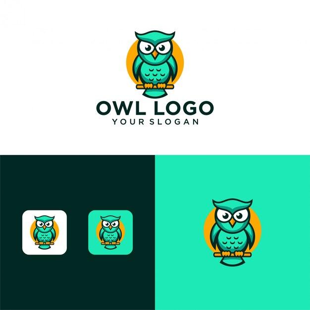 Modèle De Vecteur De Conception De Logo De Hibou Créatif Vecteur Premium