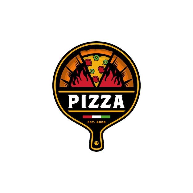 Modèle De Vecteur De Conception De Logo Pizza Vecteur Premium