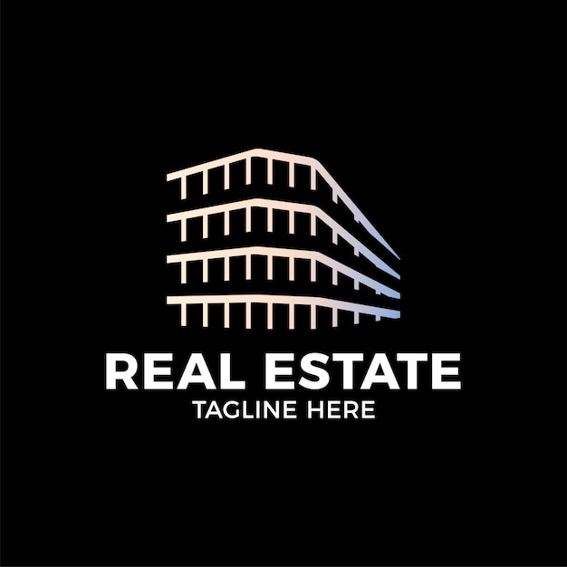 Modèle de vecteur de conception real estate construction logo. Vecteur Premium