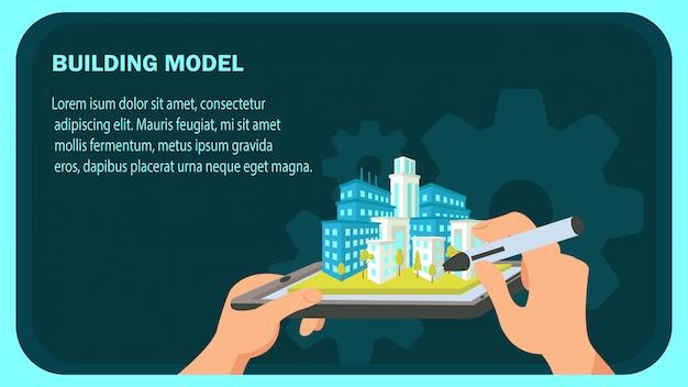 Modèle de vecteur de construction modèle site web bannière. Vecteur Premium