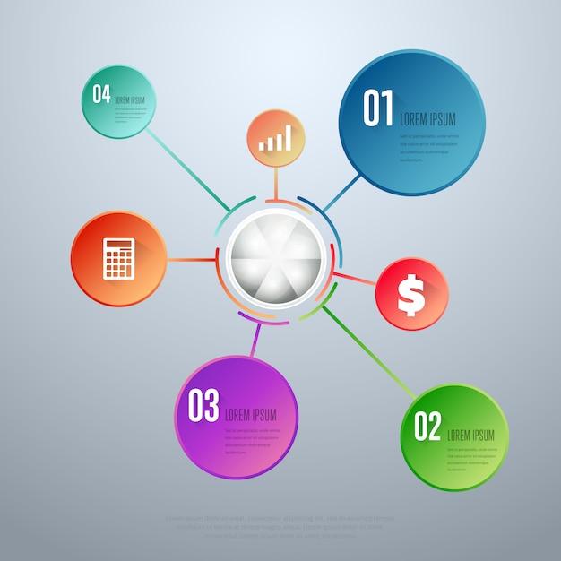 Modèle de vecteur d'éléments infographiques Vecteur Premium