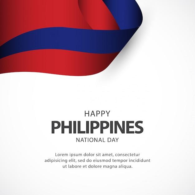 Modèle de vecteur de fête de l'indépendance des philippines Vecteur Premium