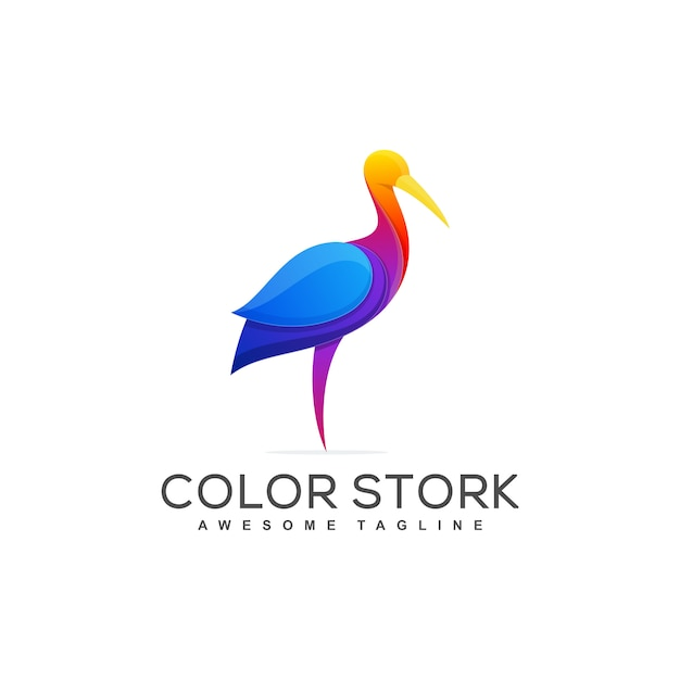 Modèle De Vecteur Illustration Stork Concept Vecteur Premium