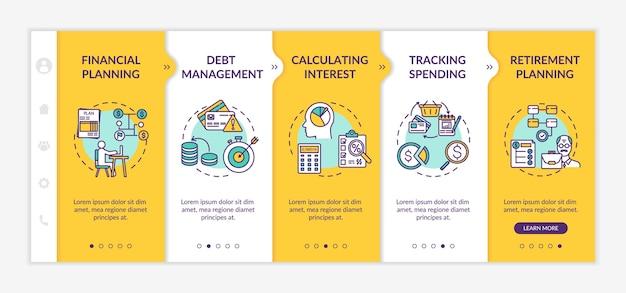 Modèle De Vecteur D'intégration Des Objectifs De Littératie Financière Vecteur Premium